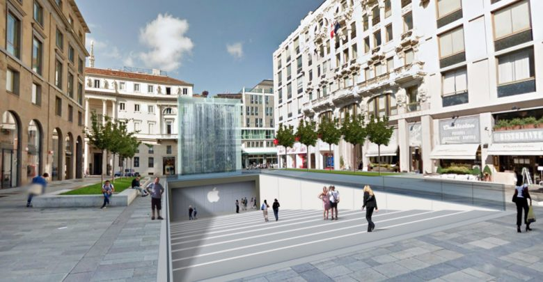 Milano: nuovo Apple Store in Piazza Liberty a Natale 2017 3
