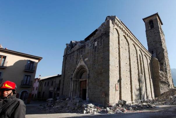 Terremoto Amatrice 30 ottobre: crollata la Chiesa di Sant'Agostino