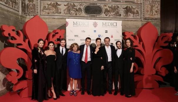 I Medici, il cast a Palazzo Vecchio: Foto a Firenze 1