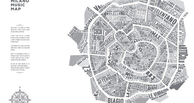 Music Map di Milano: dove abitano i cantanti più famosi