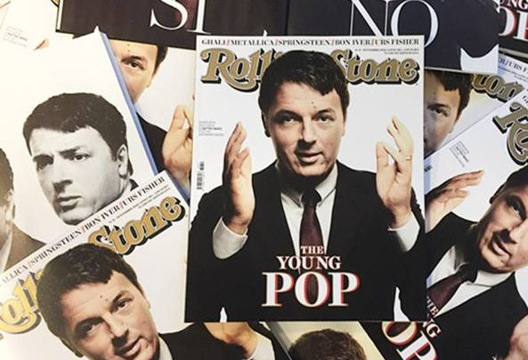 "Renzi in copertina su Rolling Stone: definito ""The Young Pop"""
