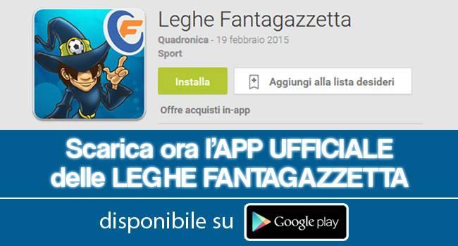 app leghe fantagazzetta