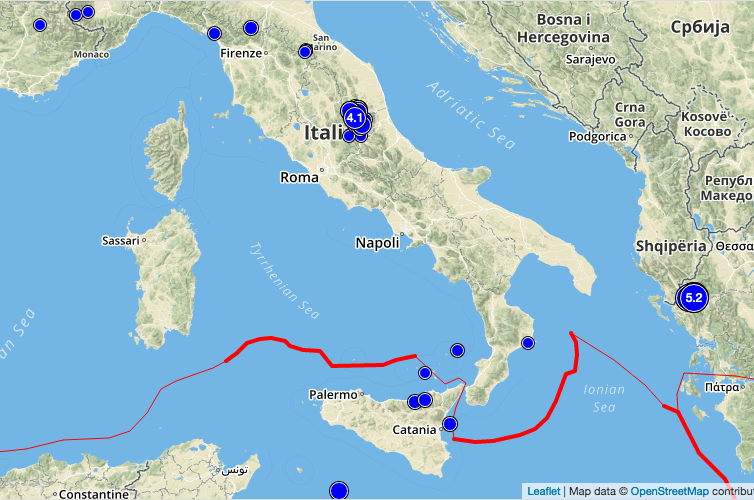 Lista Terremoti INGV in Tempo Reale, le scosse di oggi (15 ottobre 2016)