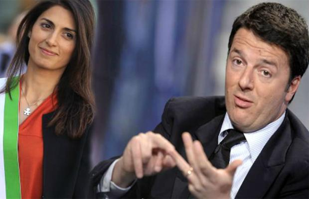 Incontro tra Renzi e Raggi, stretta di mano alla Fao