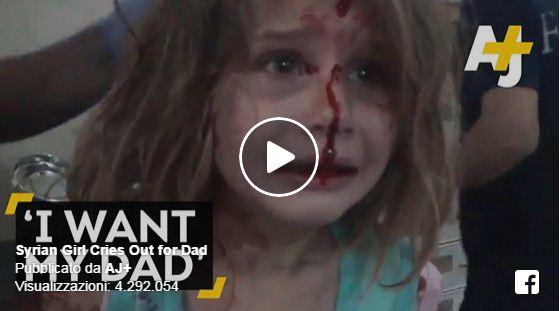 Video | Bimba ferita in Siria, chiama il papà