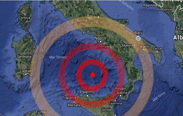 Terremoto 28 ottobre nel Mar Tirreno, sisma vicino al vulcano Marsili
