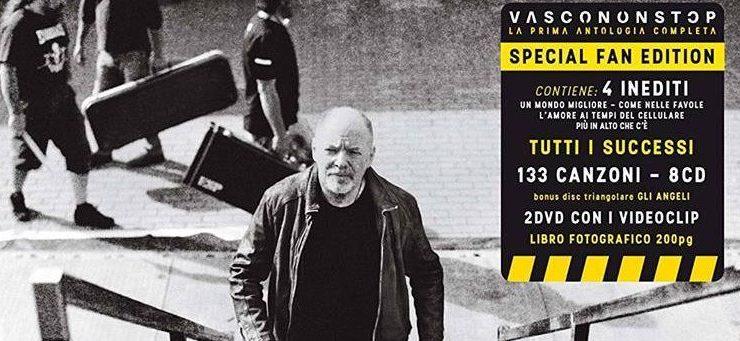 """Vasco non Stop"": tracklist raccolta dei successi di Vasco Rossi"