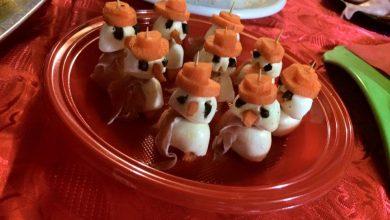 Photo of Ricette di Natale, Antipasti: Pupazzi di mozzarella