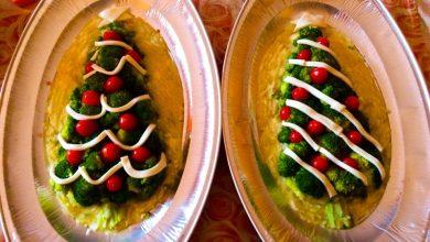 Photo of Ricette di Natale, Antipasti: Alberello vegetariano natalizio