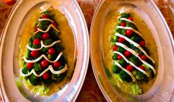 Ricette di Natale, Antipasti: Alberello vegetariano natalizio