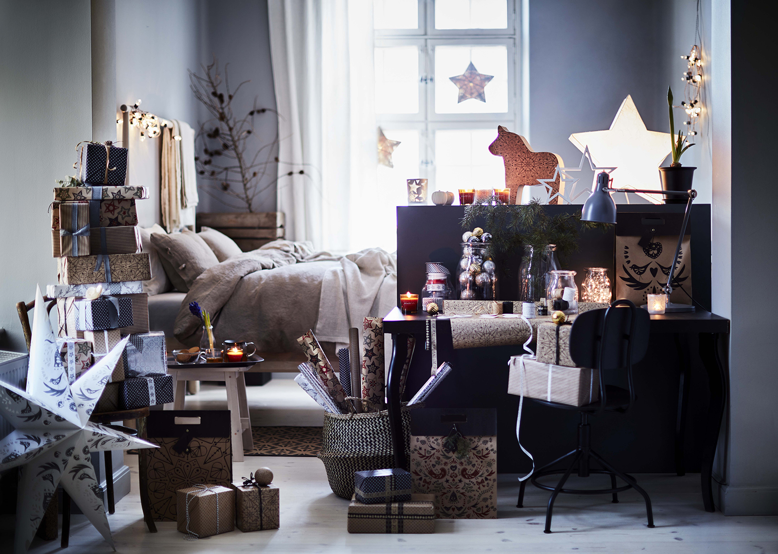 winter collection 2016 decorazioni di natale ikea. Black Bedroom Furniture Sets. Home Design Ideas