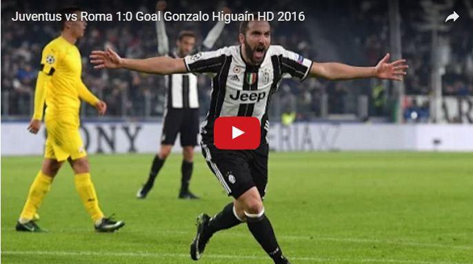 Video Gol Juventus-Roma 1-0 Highlights, Sintesi e Tabellino