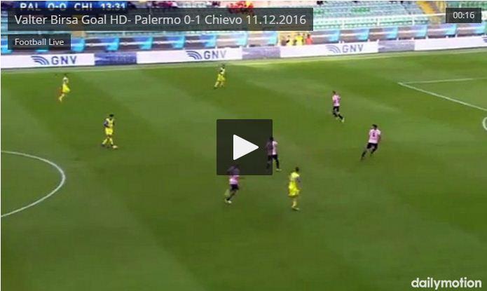 Video Gol Palermo-Chievo 0-2 Highlights, Sintesi e Tabellino