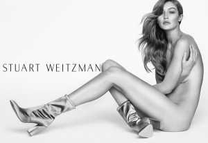 Gigi Hadid, senza veli per la nuova campagna di Stuart Weitzman (Foto) 3