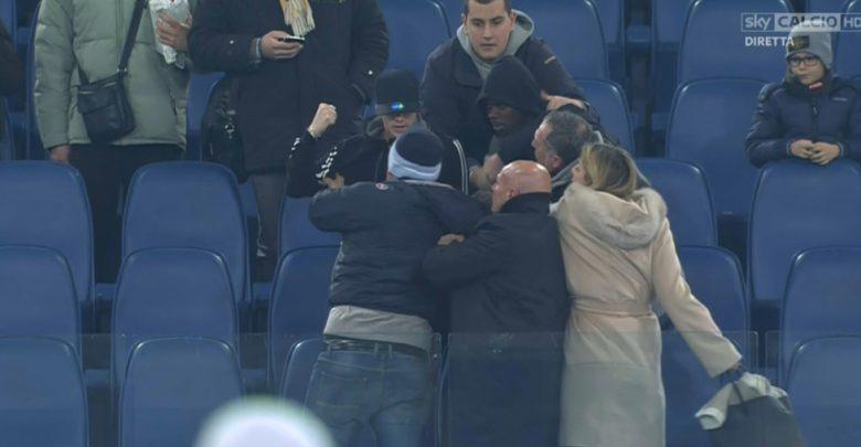 Biglia e Tounkara contro un Tifoso, Rissa dopo Lazio-Chievo | Video