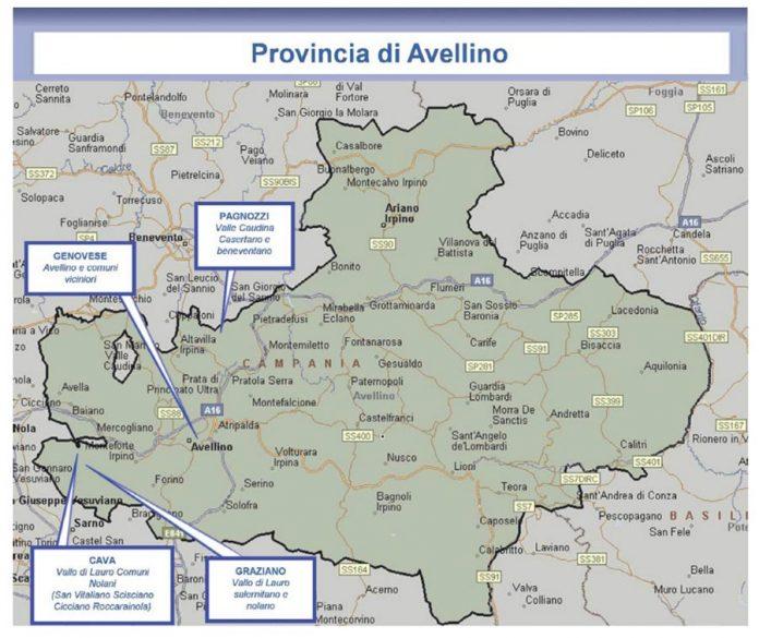 Camorra in Irpinia, la mappa della Direzione Investigativa Antimafia 1