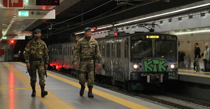 Roma, Allarme Bomba sulla Metro A a Giulio Agricola 1