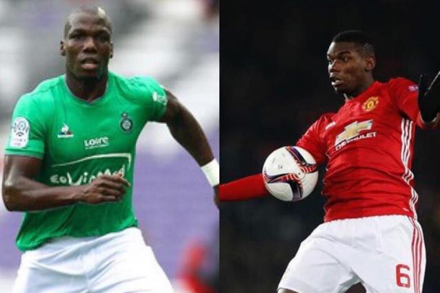 Manchester United-Saint Etienne (Europa League), fratelli Pogba avversari