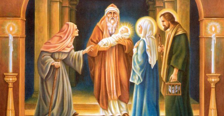 Presentazione di Gesù al Tempio Santo del giorno di Oggi 2 febbraio 2