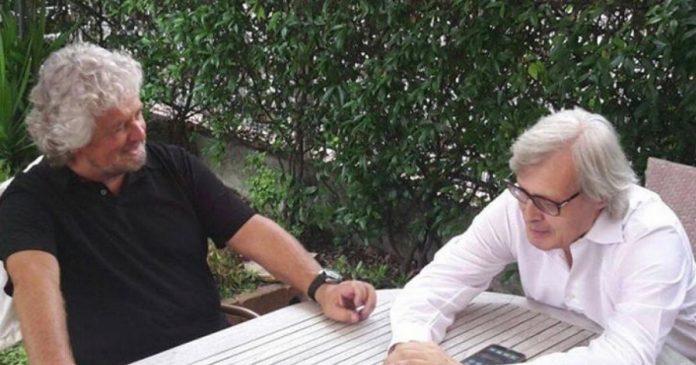Vittorio Sgarbi su Beppe Grillo: