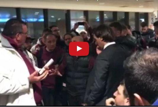 Trapani-Salernitana 1-0, Contestazione Tifosi all'Aeroporto (Video)