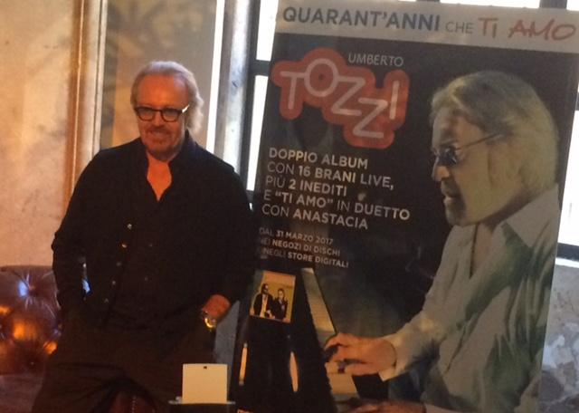 """Umberto Tozzi, nuovo album """"40 anni che TI AMO"""""""