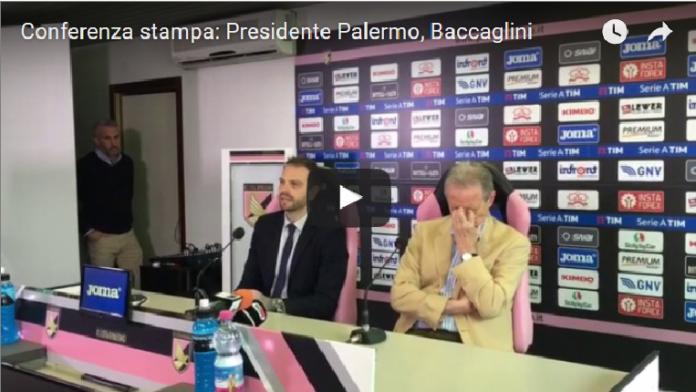 Baccaglini Nuovo Presidente del Palermo: la Conferenza Stampa (Video)