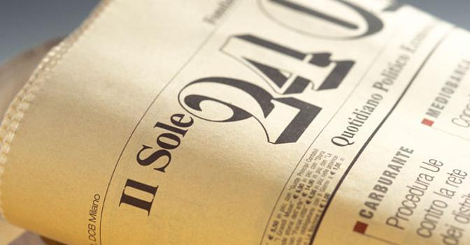 Giornalisti in sciopero a Il Sole 24 Ore