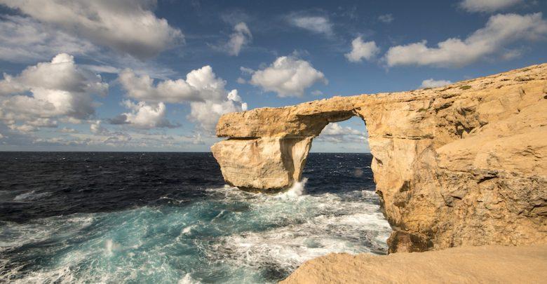 Malta, Finestra Azzurra crollata con la tempesta