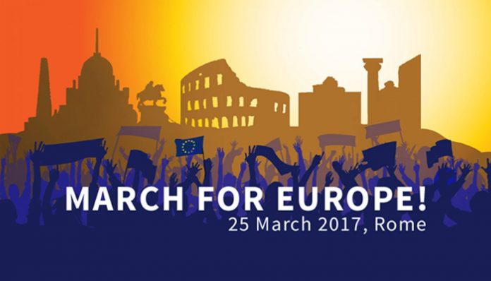Marcia per l'Europa a Roma, 25 marzo 2017