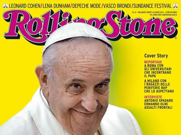 Papa Francesco su Rolling Stone come una Rockstar