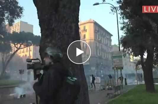 Matteo Salvini a Napoli, Scontri al Corteo | Video