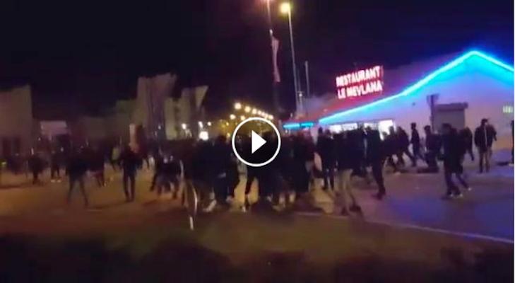Lione-Roma, Scontri tra Tifosi (Video)