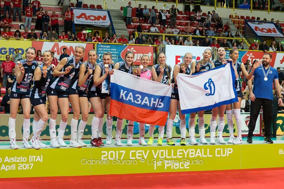 Finale Cev Cup Dinamo Kazan Campione