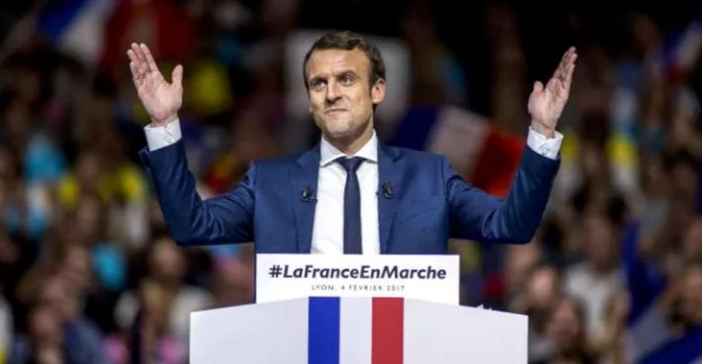 Macron comizio