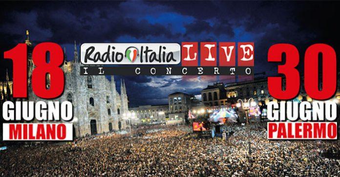 Radio Italia Live 2017: i cantanti a Milano e Palermo