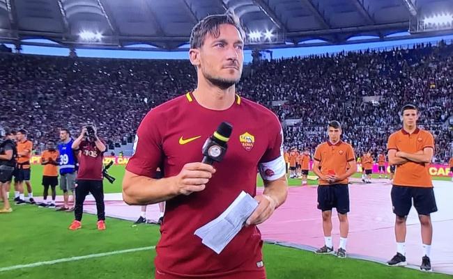 Francesco Totti Lettera d'addio