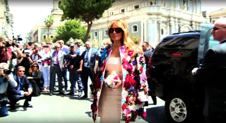 Melania Trump soprabito Dolce e Gabbana