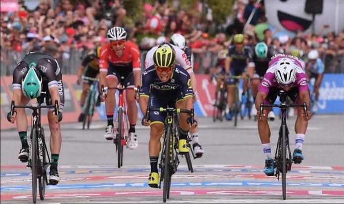Caleb Ewan, vincitore ad Alberobello davanti a Gaviria e Bennet