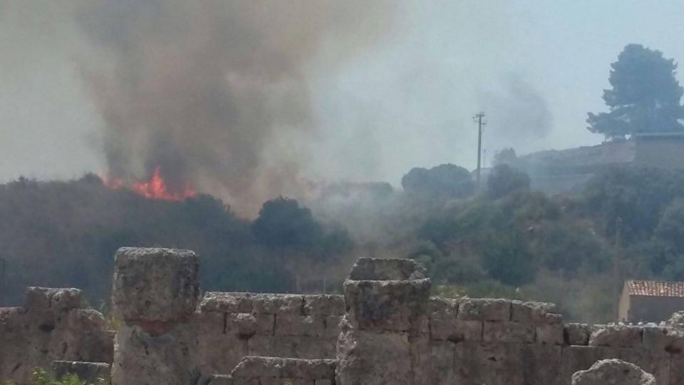 Incendio Palermo Zona Archeologica Himera