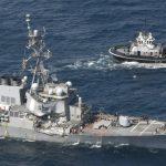 collisione unità navale USA