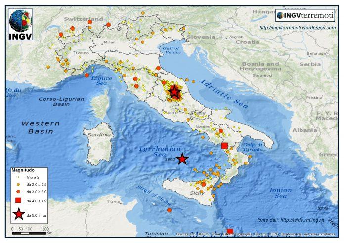 Terremoti ingv lista in tempo reale scosse di oggi 15 for Ingv lista terremoti di oggi