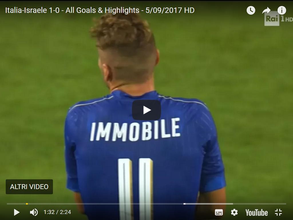 gol italia-israele 1-0