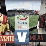 Benevento-Milan Serie A