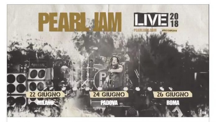 Pearl Jam, tre concerti in Italia la prossima estate