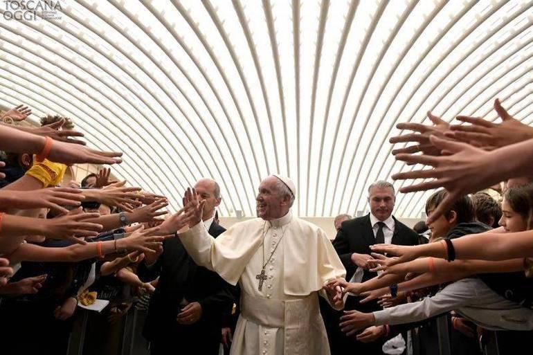 Il Papa durante l'Udienza del mercoledì alla