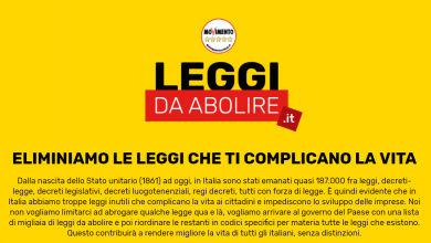 Photo of Leggidaabolire.it, il sito del M5S per le leggi da cancellare