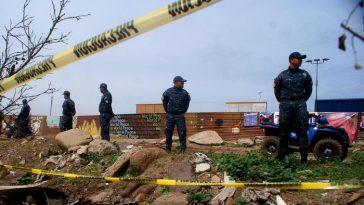 Mexican protests along the border as US President Trump visits border wall prototypes