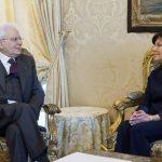 Roma – Il Presidente della Repubblica Sergio Mattarella con