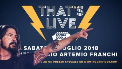 Photo of That's Live 2018: un tweet dei Foo Fighters per il Rockin'1000